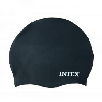 Intex 55991-grey, шапочка для плавання, від 8 років. Сірий