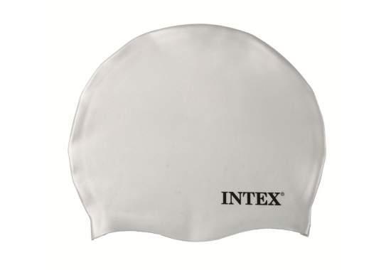 Intex 55991-white, шапочка для плавания, от 8 лет. Белая