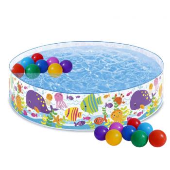 Intex 56452int, каркасний дитячий басейн Океан 183x38 см з кульками