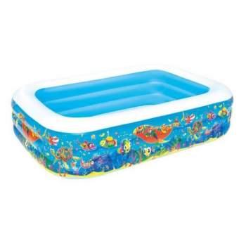 Bestway 54120, надувний дитячий басейн підводний світ, 229x152x56 см