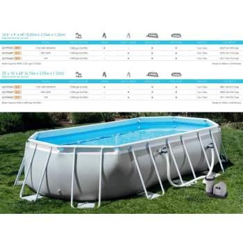 Intex 26796, каркасний басейн 503 x 274 x 122 см Prism Frame Oval Pool