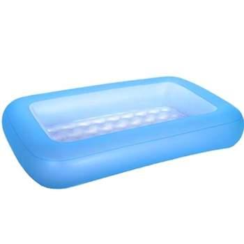 Bestway 51115-blue, надувний дитячий басейн 165x104x25 см Блакитний