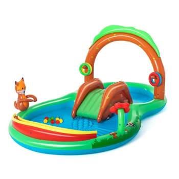 Bestway 53093, дитячий ігровий центр басейн з гіркою Лісові ігри 295x199x130 см