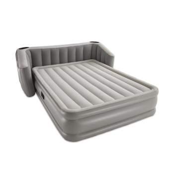 Bestway 67620, надувная кровать 233 x 196 x 80 (43) см с изголовьем