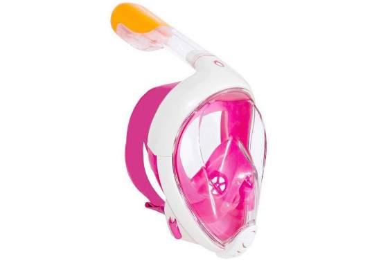 Decathlon easybreath-SM-pink, Полнолицевая Маска с трубкой Subea, SM, розовая