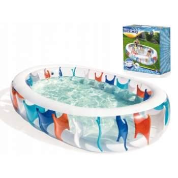 Bestway 54066, надувной детский бассейн, 229x152x51 см