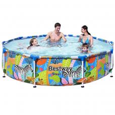 Bestway 56985, каркасний басейн 305 x 66 см Афріка
