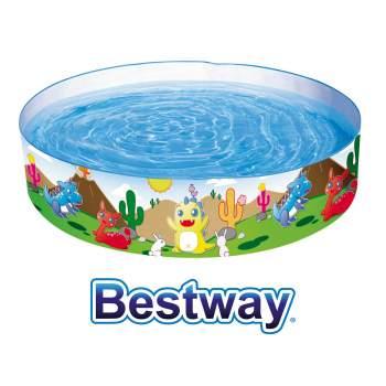 Bestway 55022, каркасний дитячий басейн Динозаври 183х38 см