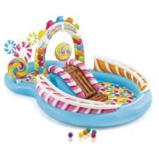 Intex 57149, детский надувной центр бассейн с горкой Карамель
