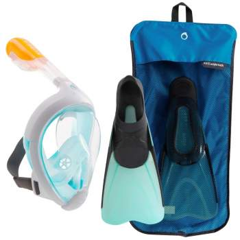 Decathlon Kit-SUBEA-SM-40-41-turquoise, набор: Ласты 40-41р и Маска SM. Бирюзовые