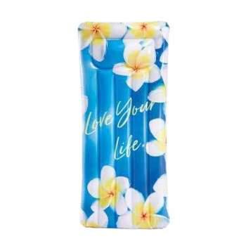 Intex 58772-flowers, надувной матрас для плавания. Цветы, 178x84см