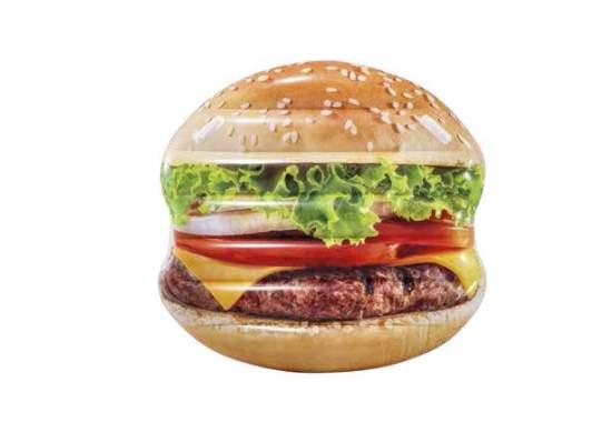 Intex 58780, надувной плотик Гамбургер, 145x142см