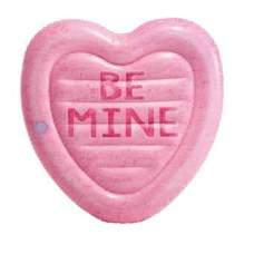 Intex 58789, надувний пліт рожева цукерка, 145х142см