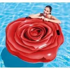 Intex 58783, надувний пліт Червона троянда, 137x132 см