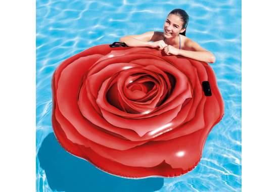 Intex 58783, надувной плотик Красная роза, 137x132 см