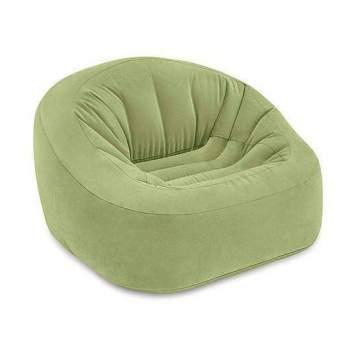 Intex 68576, надувное кресло 124 x 119 x 76 см, зеленое
