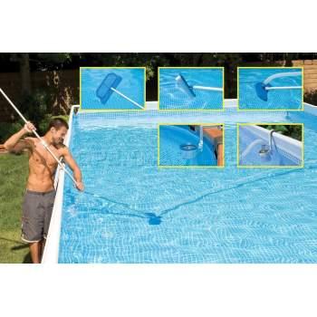 Intex 58947, Набор по уходу за бассейном: скиммер, пылесос, щетки (Intex 28000, 28003)
