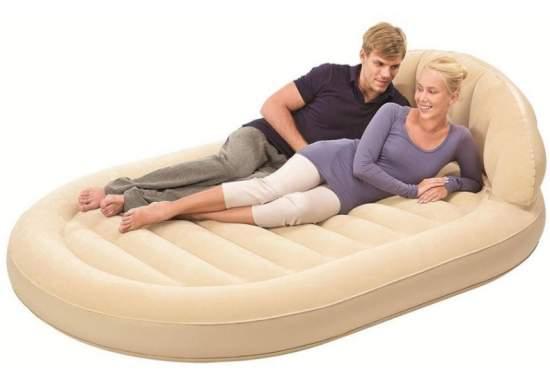 Bestway 67397, надувная кровать 215 x 152 x 60 см с подголовником
