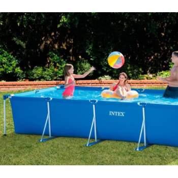 Intex 28274, каркасний басейн 450 x 220 x 84 см Rectangular Frame Pool (Intex 28273 з насосом)
