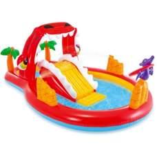 Intex 57160, детский надувной центр с горкой Счастливый Динозавр