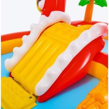 Intex 57160, дитячий надувний центр з гіркою Щасливий Динозавр