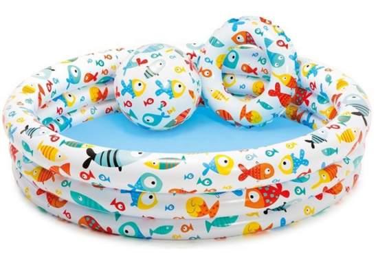 Intex 59469, надувной детский бассейн Рыбки