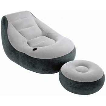 Intex 68564, надувное кресло с пуфом 130 x 99 x 76 см