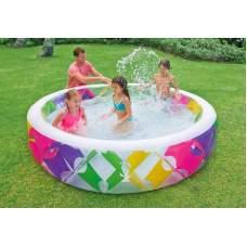 Intex 56494, надувной детский бассейн Ромбики