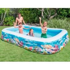 Intex 58485, надувной детский бассейн Рыбки