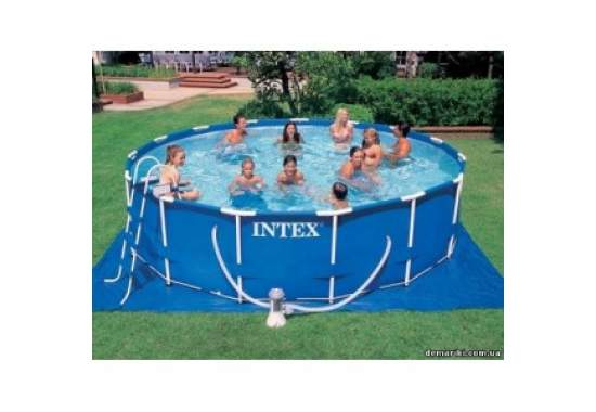 Intex 28228, каркасный бассейн 457 x 84 см Metal Frame Pool