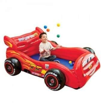 Intex 48668, дитячий ігровий центр з кульками і матрацом Тачки