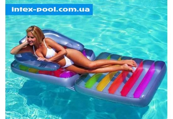 Intex 58870, надувное кресло-матрас для плавания