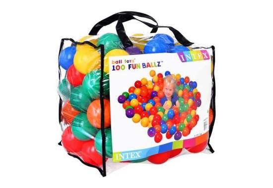 Intex 49600, шарики, 8см, 100шт