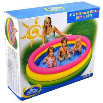 Intex 56441, надувний дитячий басейн палаючий захід сонця
