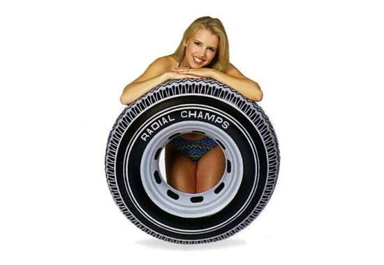 Intex 59252, надувний круг Шина, 91см