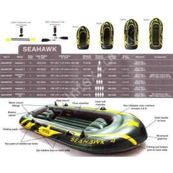 Intex 68346, надувная лодка SeaHawk-2