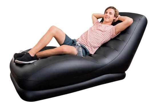 Intex 68585, надувное кресло 173 x 91 x 81 см, черное
