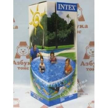 Intex 58461, каркасний дитячий басейн Касатки