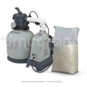 Intex 28676, песочный насос-фильтр-хлоргенератор, 6000 л/ч, 7 г/ч (26676)