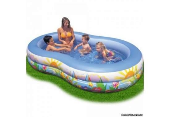 Intex 56490, надувной детский бассейн Морские Звезды 262x160x46см