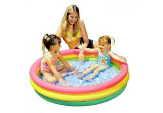 Intex 57412, надувной детский бассейн Закат солнца