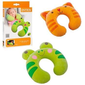 Intex 68678-Z, надувная подушка-подголовник, лягушка