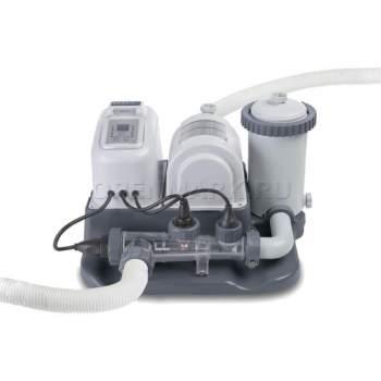 Intex 28674, насос-фильтр картриджный с хлоргенераторос, 4000 л/ч, 5г/ч