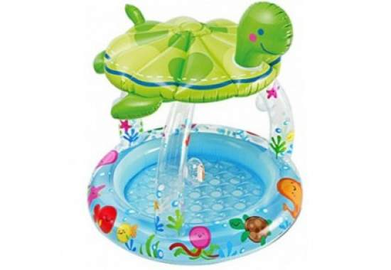 Intex 57119, надувной детский бассейн Морская черепаха