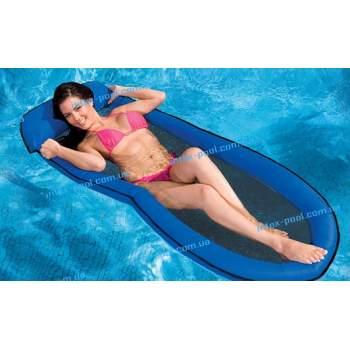 Intex 58836-S, надувной матрас для плавания, синий сетчатый