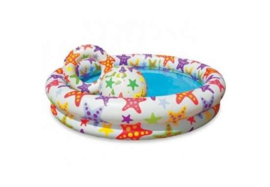 Intex 59460, надувний дитячий басейн Морські зірки