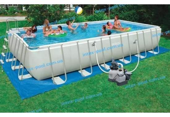 Intex 28364, каркасный бассейн 732 x 366 x 132 см Ultra Frame Pool