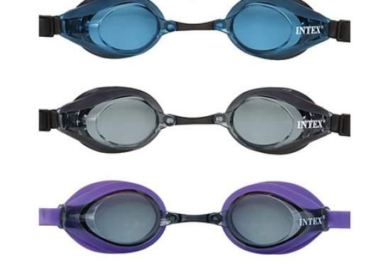 Intex 55691-E, дитячі окуляри для плавання, сірі
