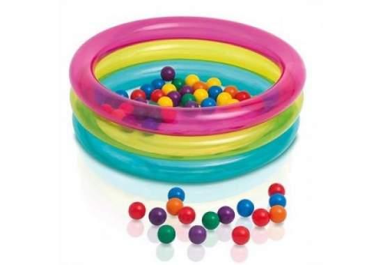 Intex 48674, надувной детский бассейн 86x25см, в комплекте 50 шариков