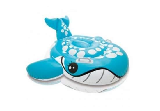 Intex 57527, надувний пліт синій кит